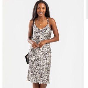 JUST ARRIVED White Leopard Print Silky Tank Dress